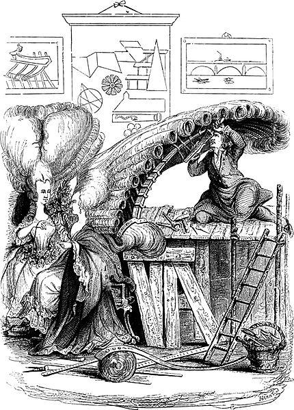 """The """"Académie de Coiffure"""" Date18th century SourceAugustin Challamel, Histoire-musée de la république Française, depuis l'assemblée des notables, Paris, Delloye, 1842. AuthorUnknown"""